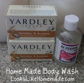 Home Made Body Wash from Barsoap and Glycerine - LooksLikeHomemade.com