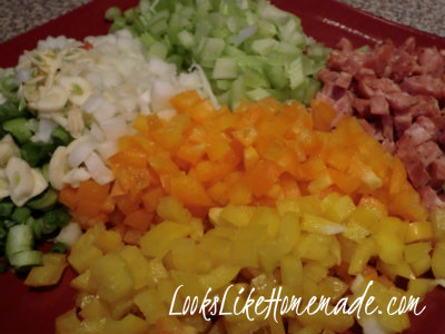 Vegetables for Lightened Up Jambalaya