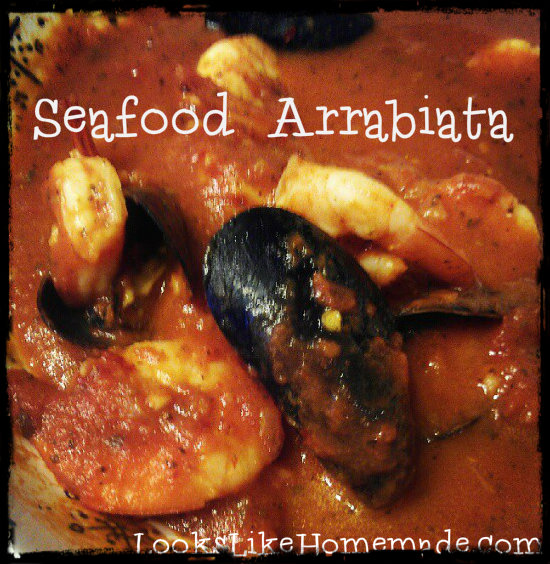 Seafood Arrabiata – Mussels and Shrimp in Spicy Marinara Sauce