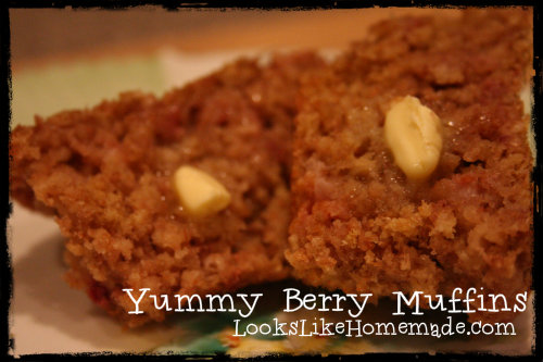 Yummy Berry Muffins – Whole Wheat Flour & Flax Seed recipe