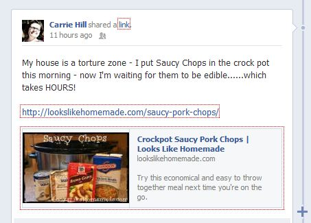 Saucy Chops - Smell so good I Facebooked about it