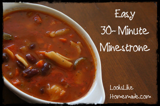 30-Minute Easy Minestrone Recipe