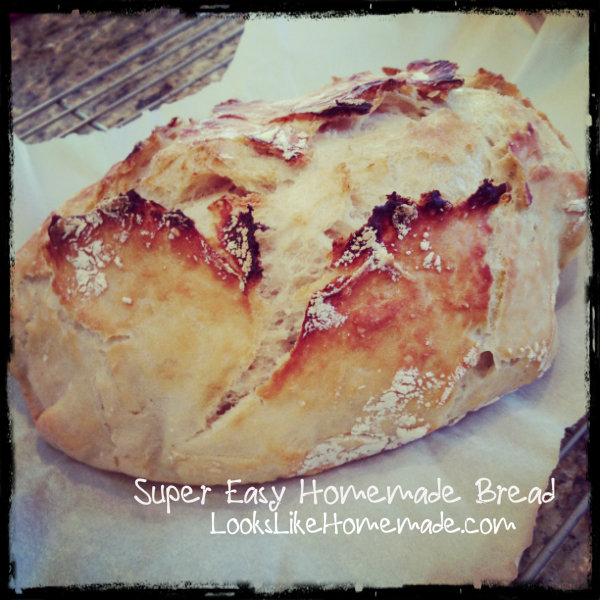 Easy No-Knead Crusty Bread from Simply So Good