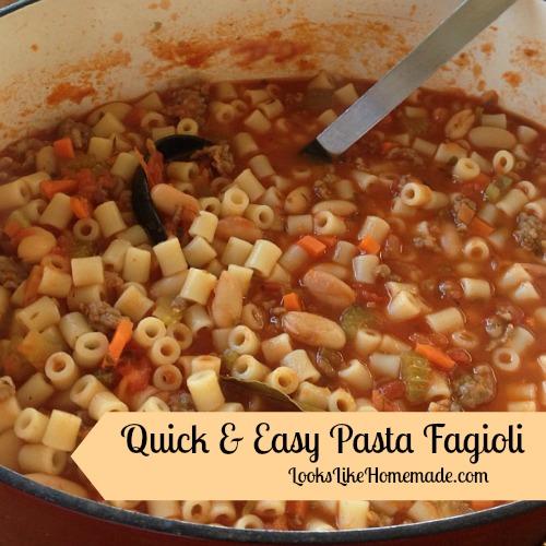 Simple Pasta Fagioli Recipe