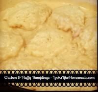 chicken fluffy dumplings