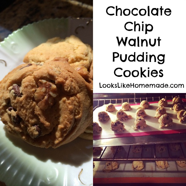 Chocolate Chip Walnut Pudding Cookies
