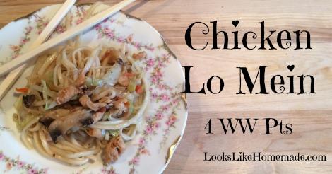 Weight Watchers Chicken Lo Mein – 4 Points