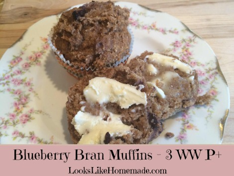 Blueberry Bran Muffins – 3 WW Pts Each