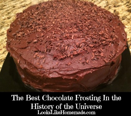 The Best Chocolate Frosting In The History Of The Universe