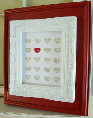 Day 4: Words of Love Picture Frame