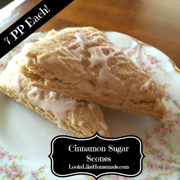 Honey Sweetened Cinnamon Scones