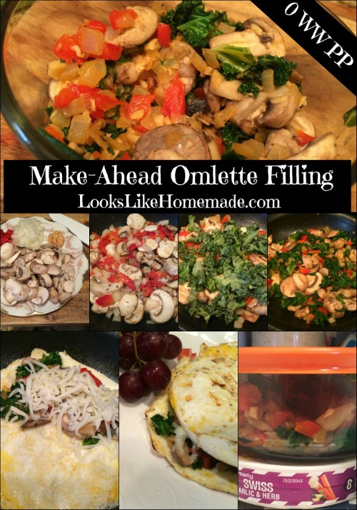 make ahead omlette filling collage
