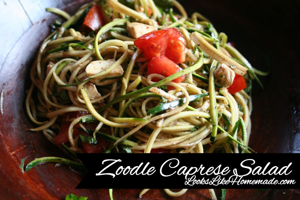 Zoodle Caprese Salad
