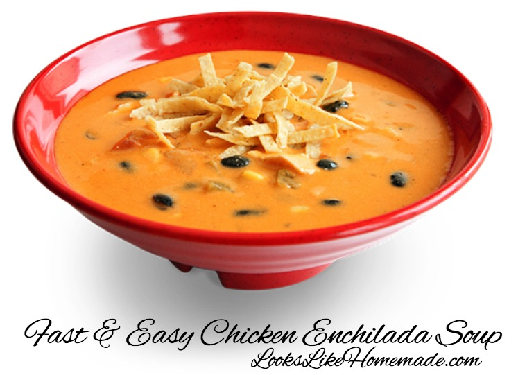 Fast & Easy Chicken Enchilada Soup