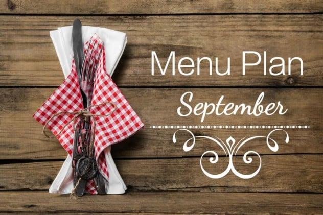 menu plan september