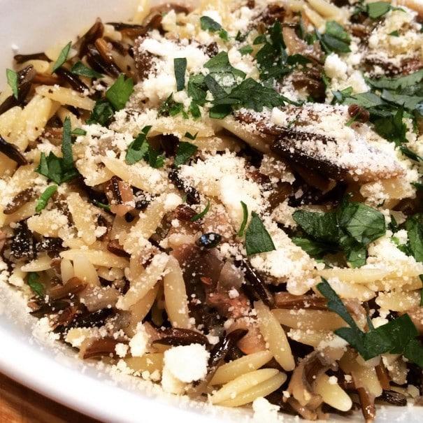 wild rice orzo mushroom pilaf