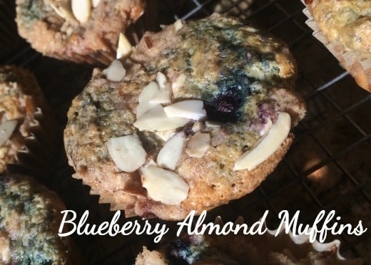 Blueberry Almond Muffin Recipe - Looks Like Homemade