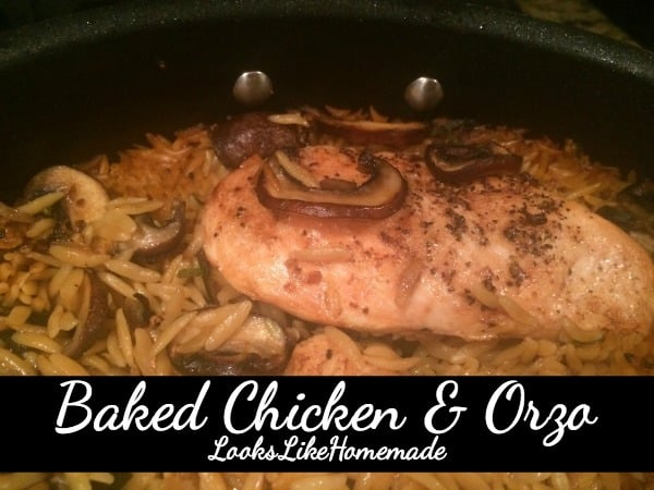 baked chicken & orzo recipe