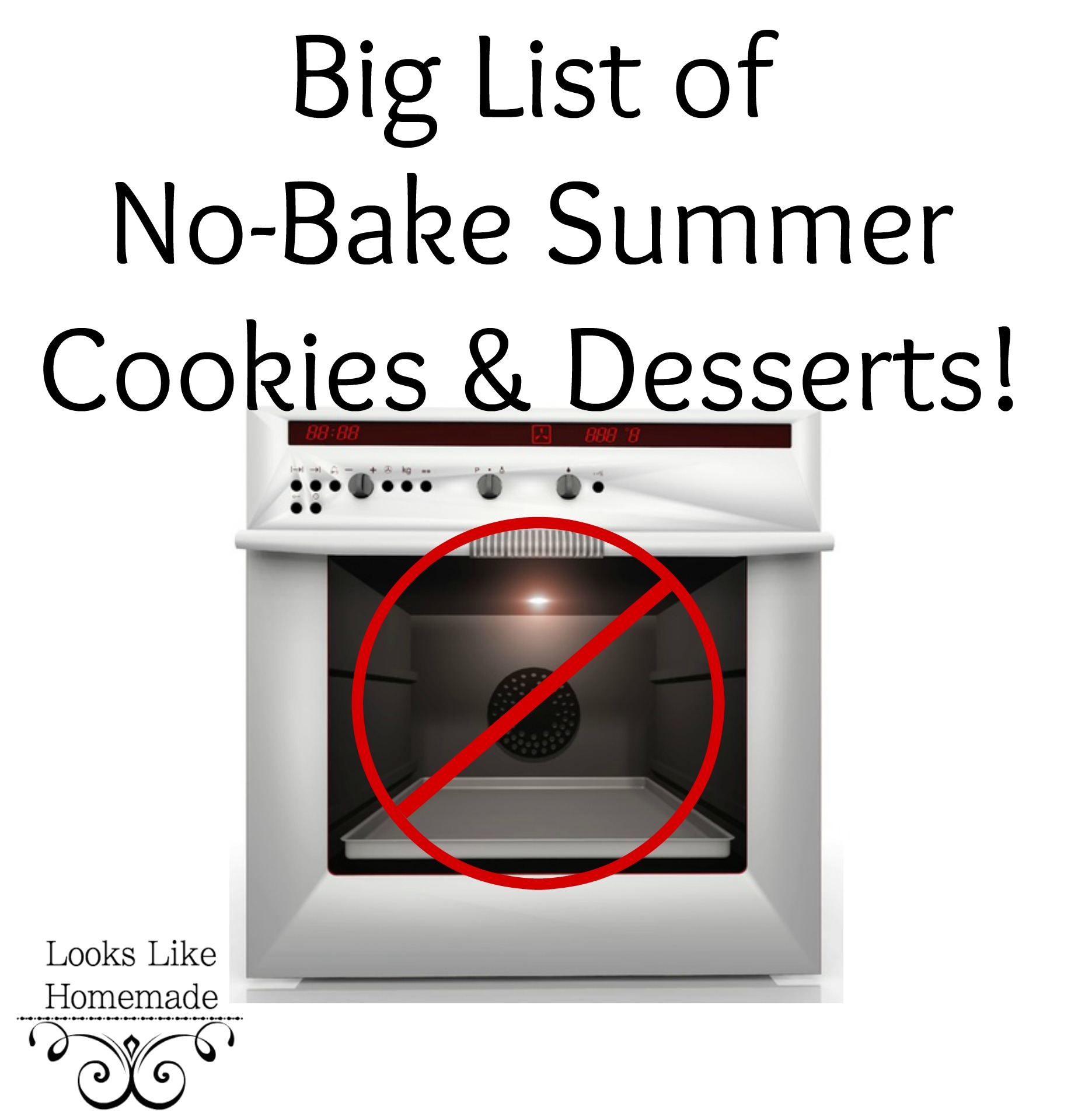 Big List of No-Bake Cookies & Desserts