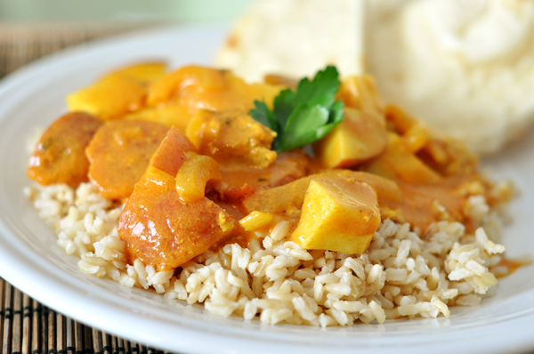 Potato & Chicken Coconut Curry Recipe - Looks Like Homemade