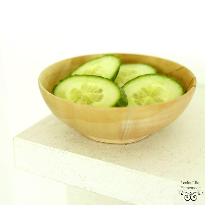 Cucumbers with Lemony Dressing