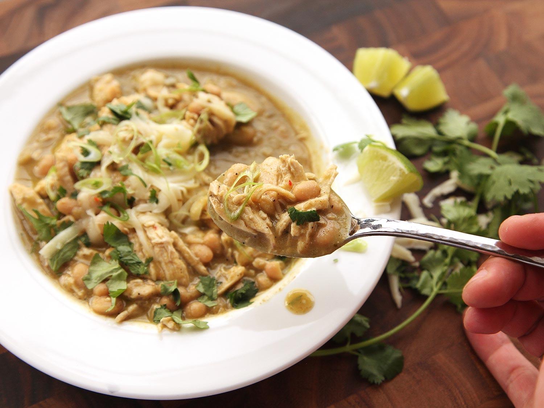 Ground Chicken & White Bean Green Chile
