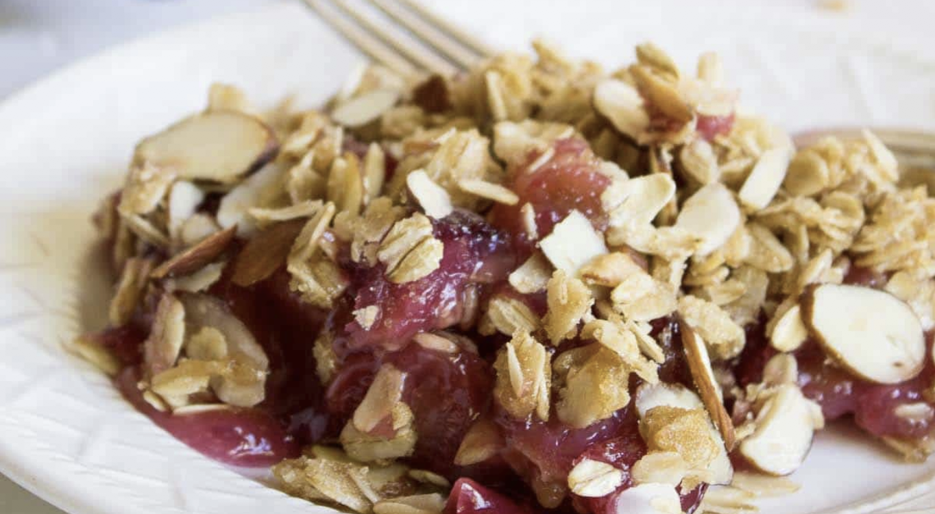 Cherry Almond Crisp – 3 WW Points Per Serving